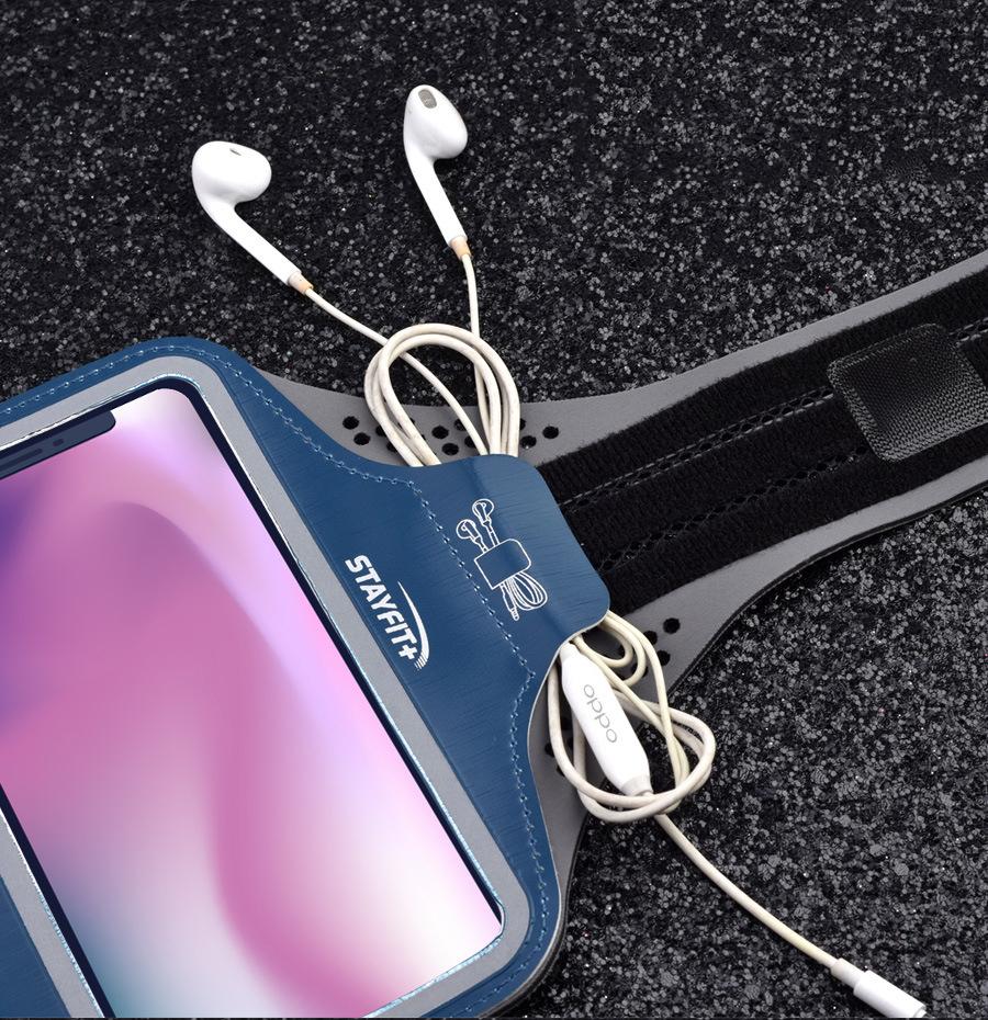 Bao, Túi đựng Điện Thoại tới 6.5 Inch Đeo tay chạy bộ ,Tập thể dục Rhino B102 Kháng nước, chống thấm, có thể cắm tai nghe phù hợp điện thoại Samsung, Iphone, Sony, Xiaomi,... - Hàng chính hãng