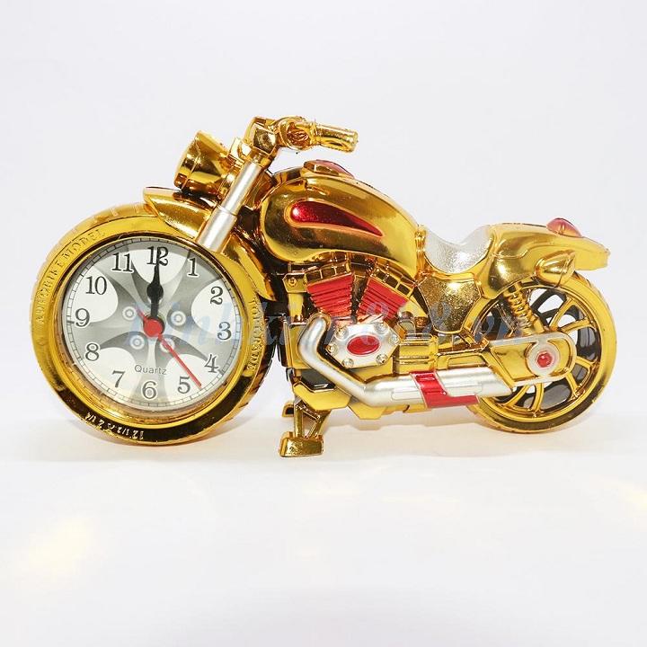 Đồng hồ báo thức để bàn mô hình xe máy
