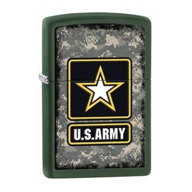 Bật Lửa Họa Tiết Quân Đội In Chữ U.S.ARMY - Dùng Xăng Bấc Đá Cao Cấp