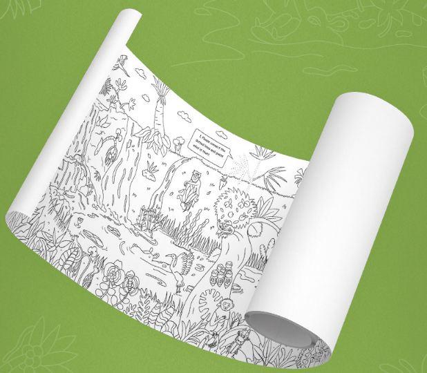 Cuộn giấy Tô màu  Khổ dài 10m