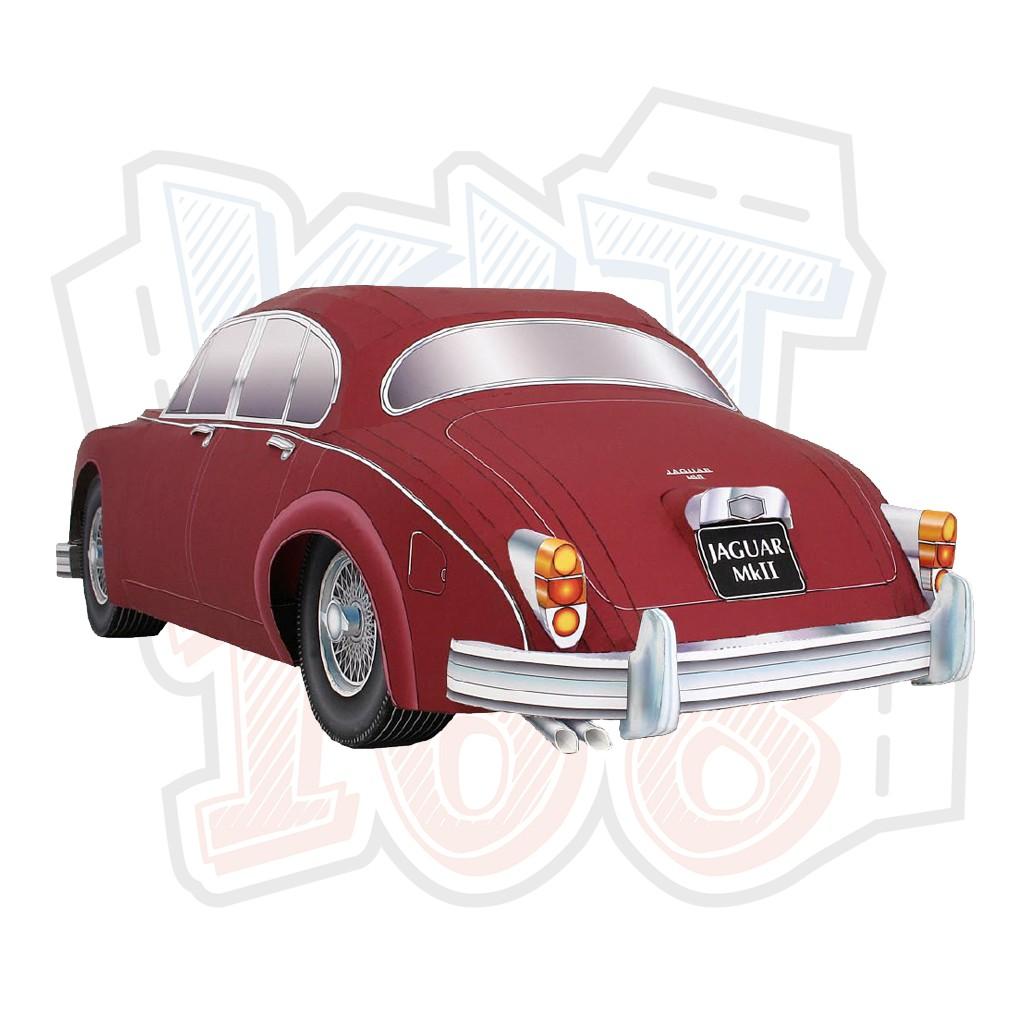 Mô hình giấy Xe ô tô Jaguar-Mk2 Saloon