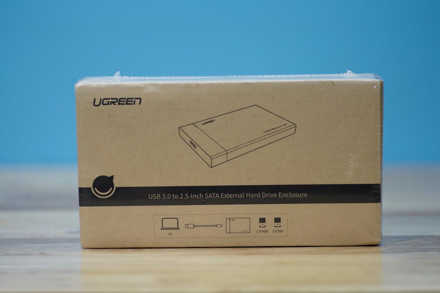 Vỏ hộp đựng ổ cứng SATA 2.0/3.0 2.5 và SSD vỏ nhựa ABS cao cấp (dây dời) UGREEN US221 30848 - Hàng Chính Hãng