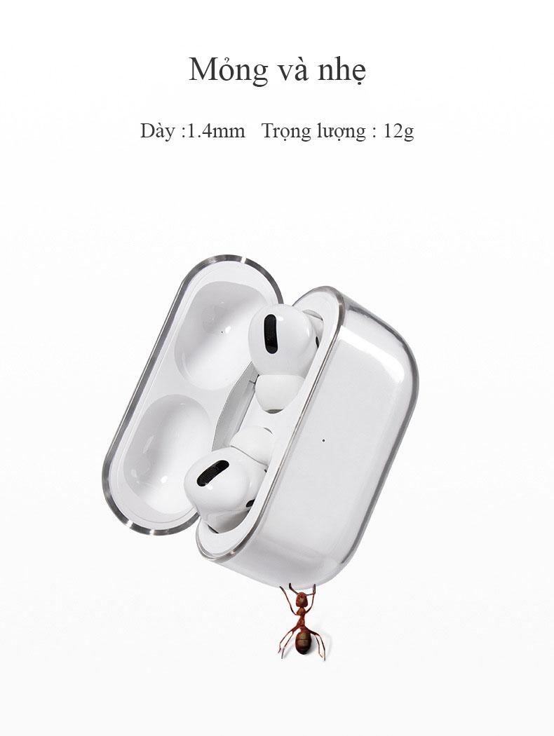 Bao Ốp Case Dành Cho Apple Airpods Pro Chất Liệu PC Trong Suốt