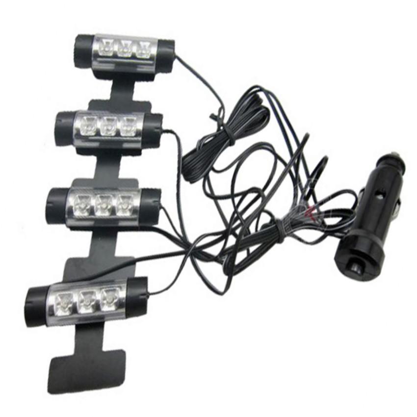 Bộ đèn Led nội thất xe hơi 206138 + Tặng 1 Đèn Led gắn van xe .