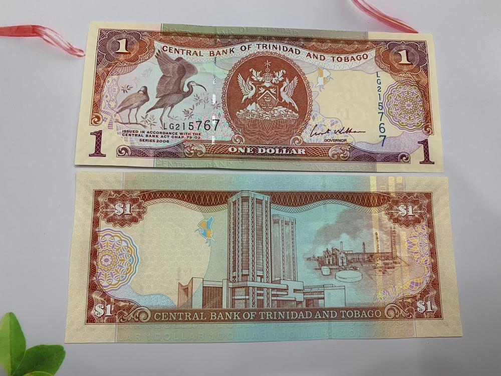 Tiền 1 Trinidad Tobago hình con chim xưa - ở châu Mỹ