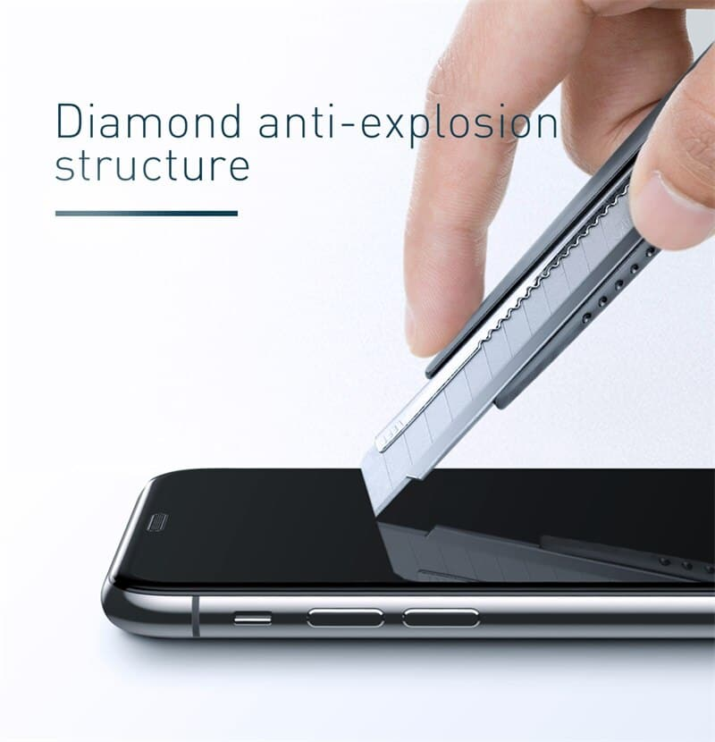 """Bộ 2 kính cường lực chống nhìn trộm, chống bụi màn loa Baseus Full-screen Curved Privacy Tempered Glass Film dùng cho iPhone XR, iPhone 11 6.1""""- Hàng nhập khẩu"""