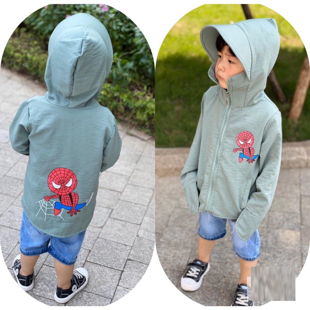 Áo chống nắng NGƯỜI NHỆN sành điệu cho bé trai