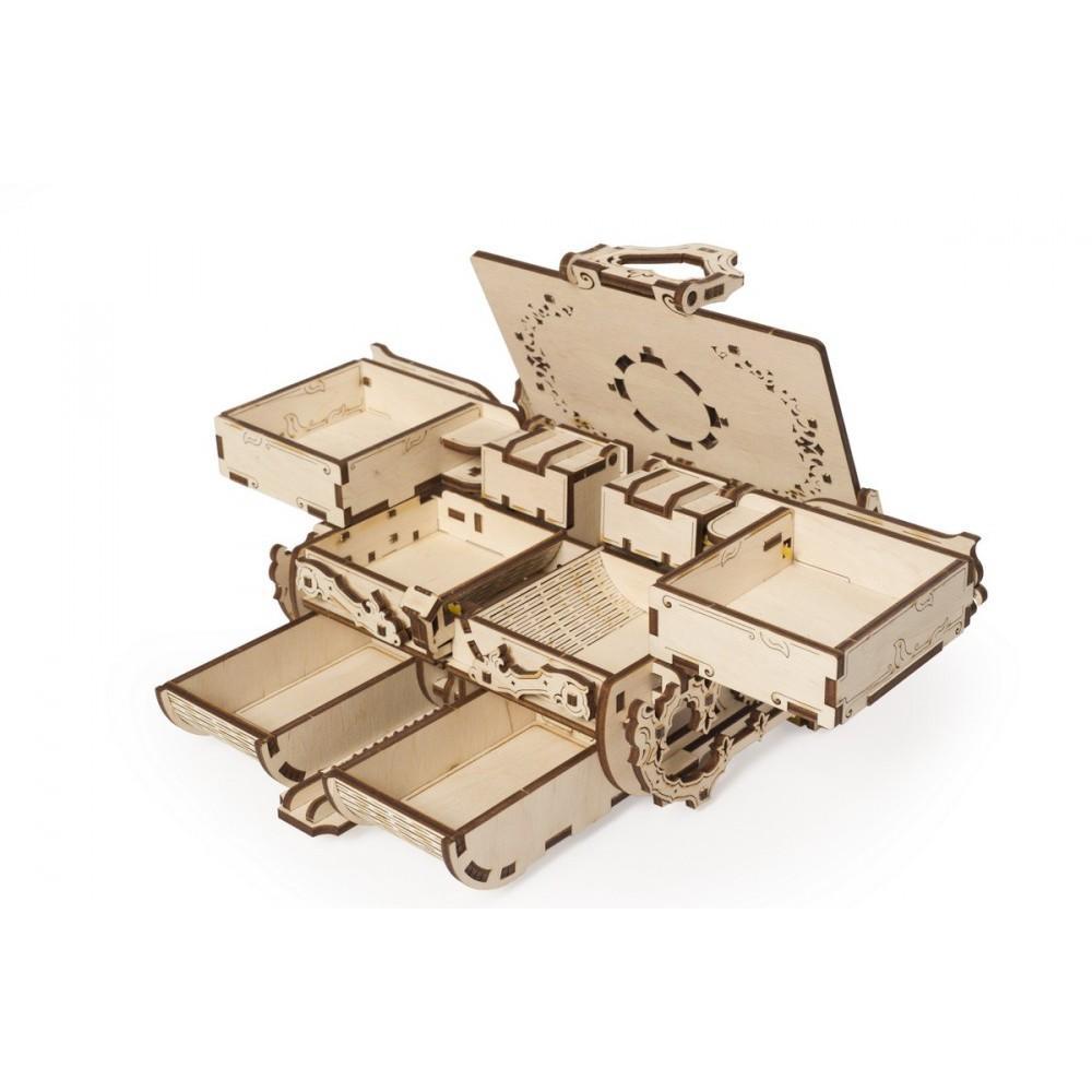 Mô Hình Gỗ Cơ Khí -  Ugears Antique box - Hộp nữ trang, Chính hãng Ugears, nhập khẩu nguyên bộ EU, mô hình lắp ráp 3D, Đồ chơi trí tuệ DYI
