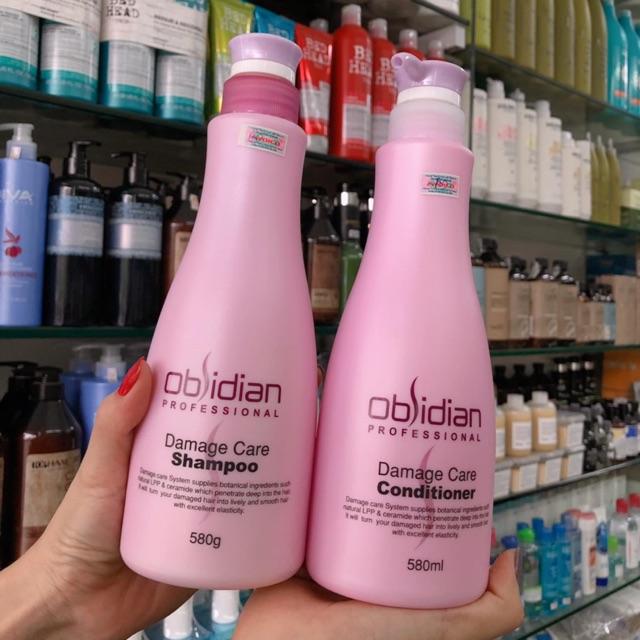 Dầu xả tái tạo tóc Obsidian Professional Damage Care Conditioner Hàn Quốc 580ml tặng kèm móc khoá