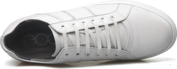 Giày tăng chiều cao nam màu trắng siêu chất hàng hiệu GOG GCT68625