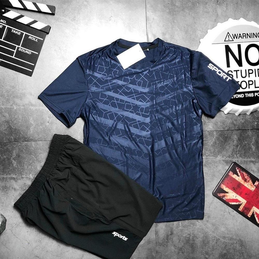 Bộ quần áo thể thao nam thun lạnh ép cao tần co giãn 4 chiều mặc thoáng mát Micado