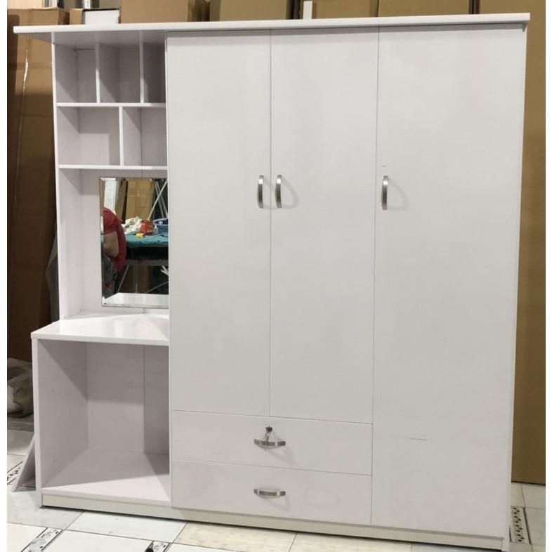 Tủ quần áo đa năng Juno Sofa - Ngang 1m85 x1m85 x 0,5 m (Trắng)