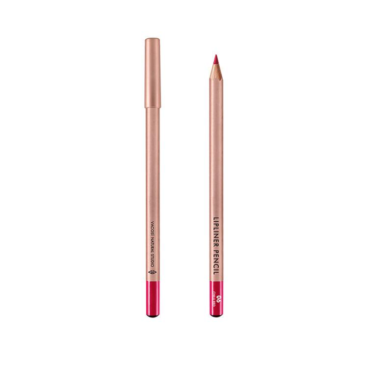(BẢN MỚI) Chì Kẻ Viền Môi Vacosi Lipliner Pencil No.6 Chili Red Đỏ Ớt