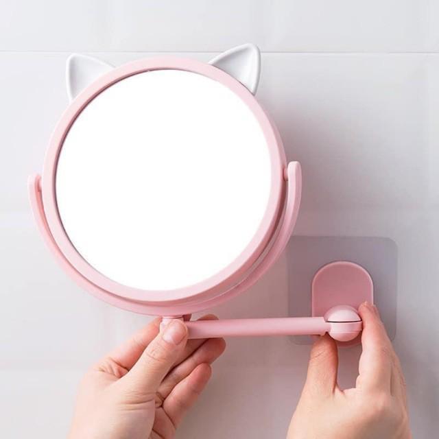 Gương Xoay Dán Tường Hình Tai Mèo