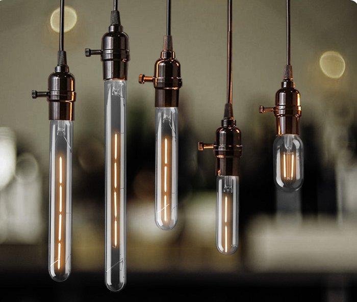 Bộ 5 bóng đèn Led Edison T185 4W đui E27.