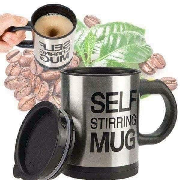 Ly tự động khuấy, ly pha cafe tự động, cốc pha cafe tự động Self Stirring Mug dùng rất tiện lợi