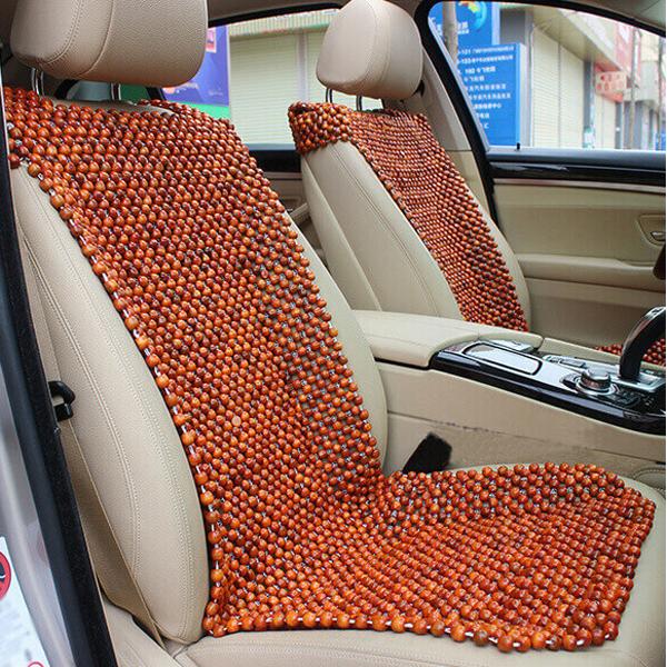 Đệm lót ghế ô tô bằng hạt gỗ hương 1,2cm - Nâu