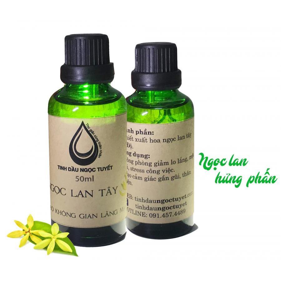 Combo 2 tinh dầu hoa ngọc lan tây thiên nhiên giúp hưng phấn giảm stress Ngọc Tuyết 50mlx2