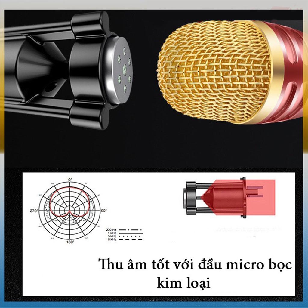 Mic C28 cao cấp live stream thu âm đa năng giả giọng đầy đủ phụ kiện tai phone và Giá đỡ micro 3 chân kèm màng lọc - giao màu ngẫu nhiên - hàng nhập khẩu
