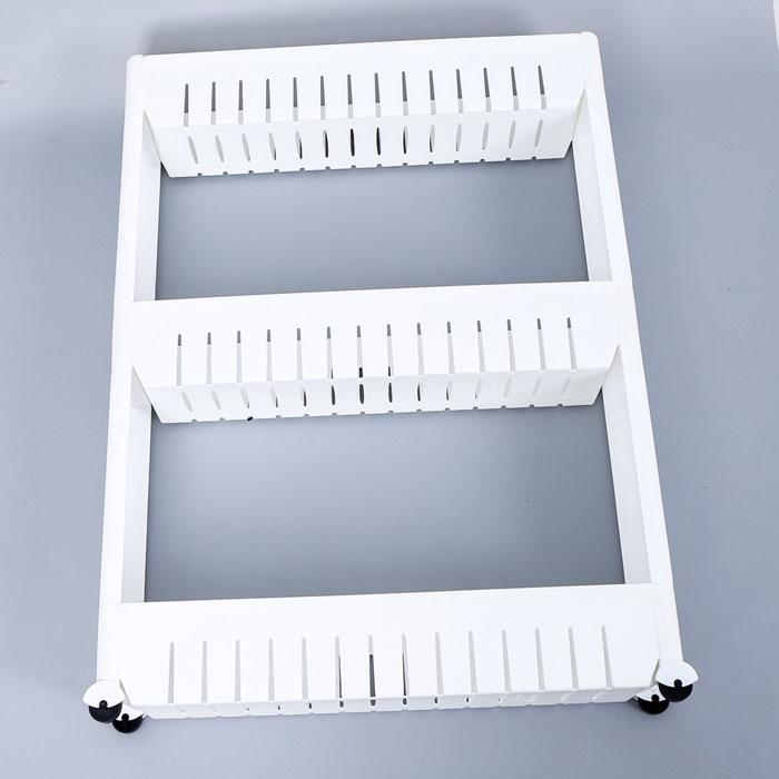 Kệ Nhựa 3 Tầng có Bánh Xe - Kệ Gia Vị Nhà Bếp
