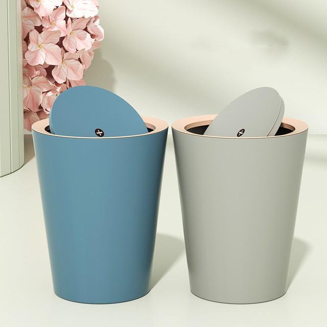 Thùng rác nhựa nắp lật mini 10L xoay 360 độ - thùng rác nắp lật dung tích 10L- R11