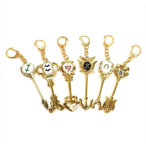 Móc khóa hình chìa khóa mạ vàng anime Fairy Tail Hội pháp sư trang trí dễ thương (MẪU GIAO NGẪU NHIÊN)