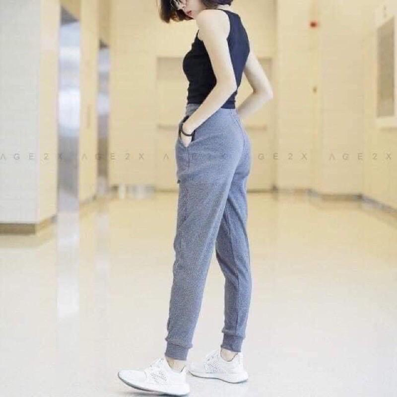 Quần joker- quần jogger len tăm- quần nữ- quần len tăm- quần thể thao