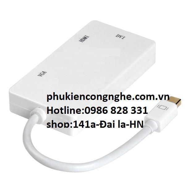CÁP CHUYỂN ĐỔI MINI DISPLAYPORT TO HDMI + VGA + DVI