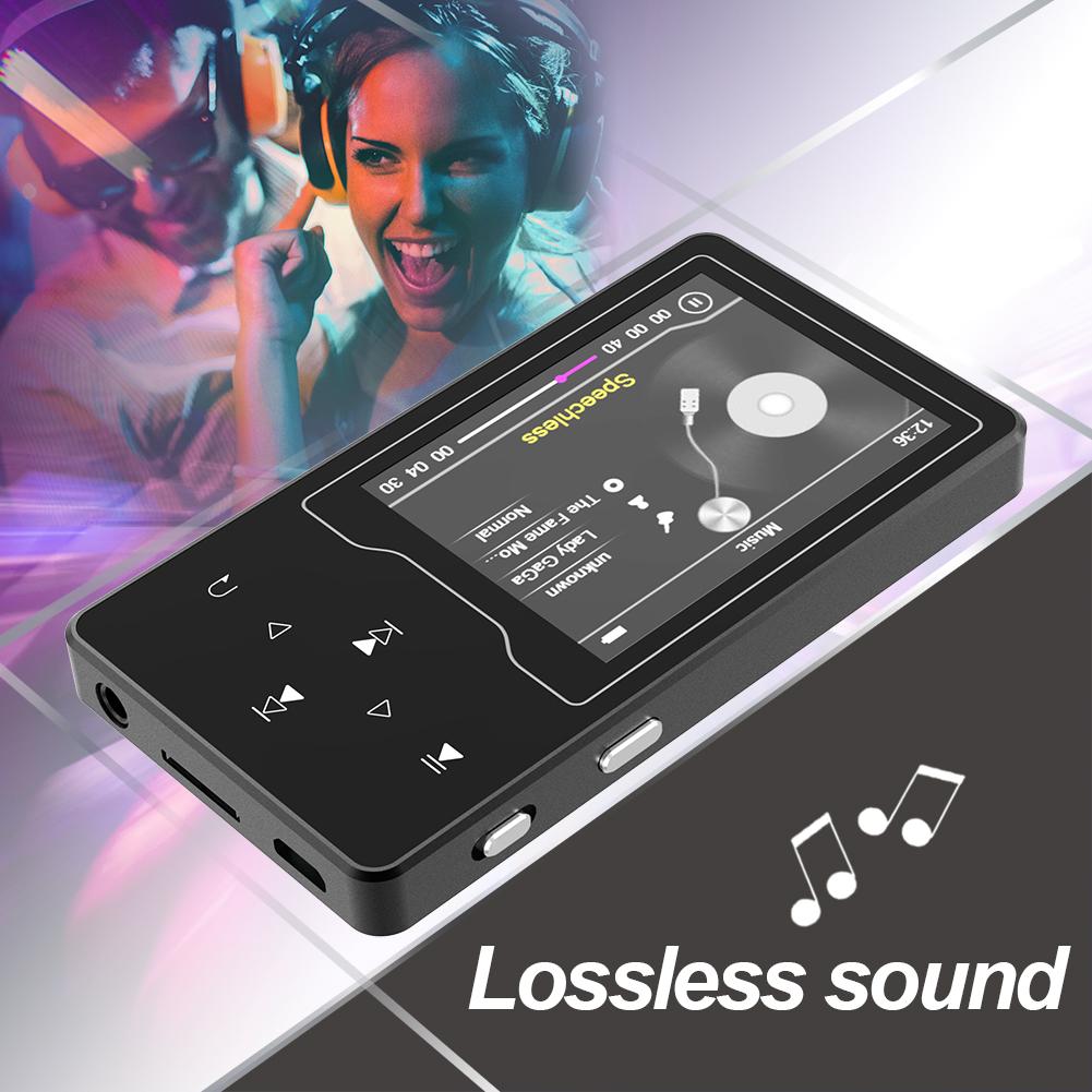 Máy nghe nhạc MP3, MP4 màn hình HD 2.4 inches Ruizu D08 Bộ Nhớ Trong 8GB AZONE - Hàng Nhập Khẩu