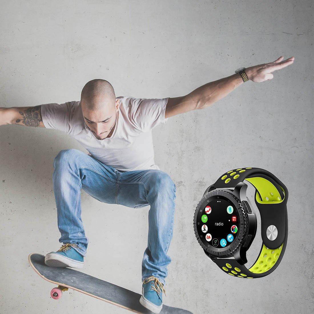 Dây đồng hồ 22mm, dây cao su dành cho Samsung Gear S3, Samsung Galaxy Watch 46mm