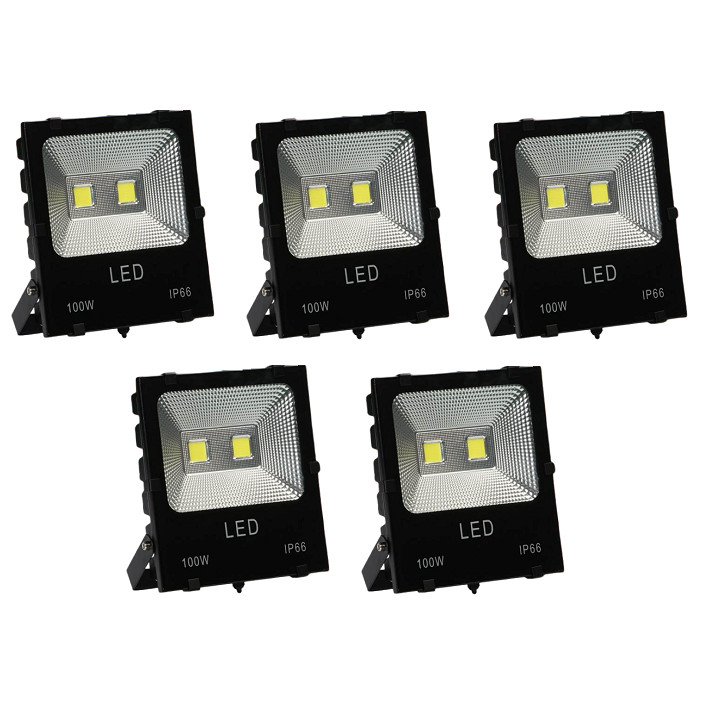 Bộ 5 đèn Led pha COB 100W
