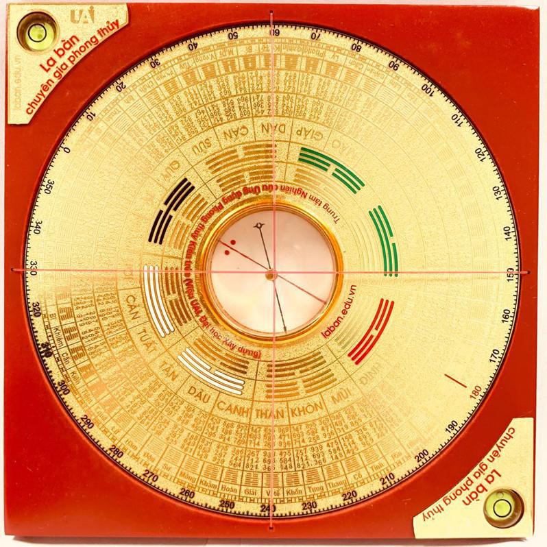 La bàn Chuyên gia Phong thủy 13.5x13.5cm