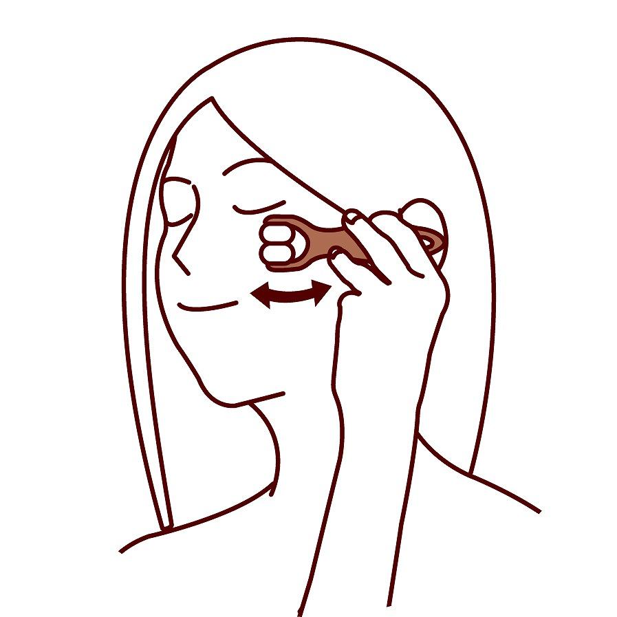 Dụng cụ massage chống nhức, mỏi mắt an toàn - Hàng nội địa Nhật