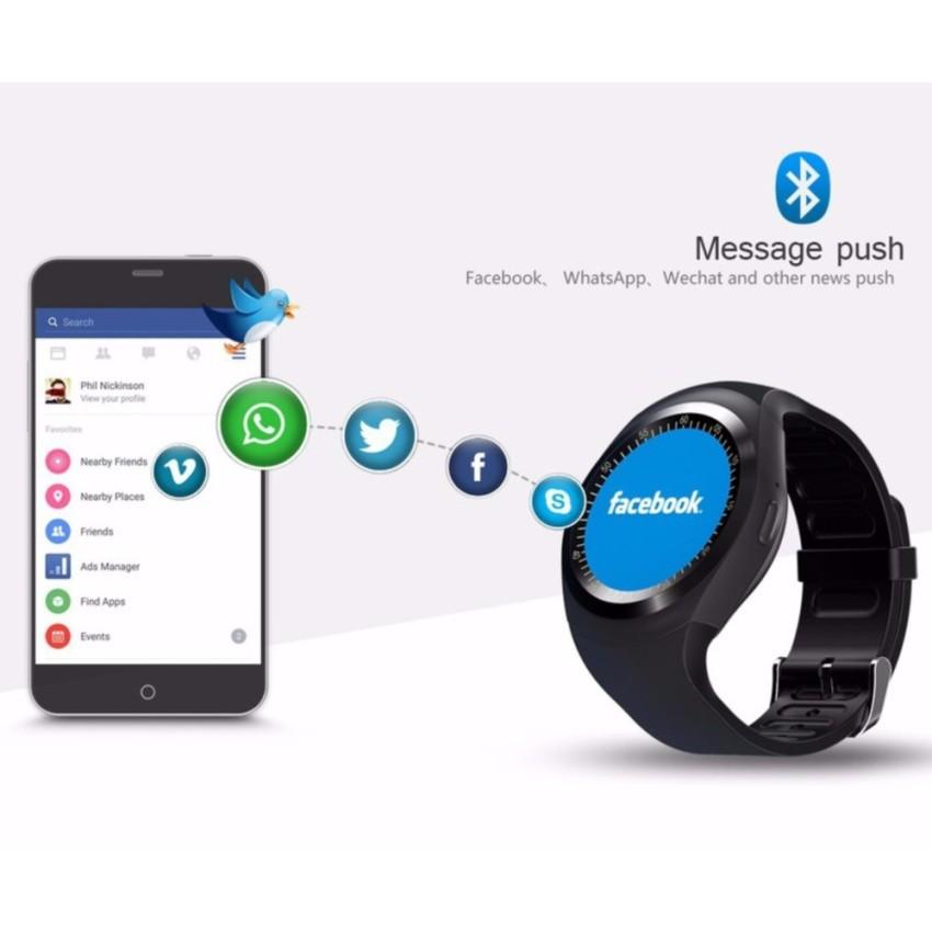 Đồng hồ thông minh Smart Watch Y1 - Smart Watch Y1 ĐEN