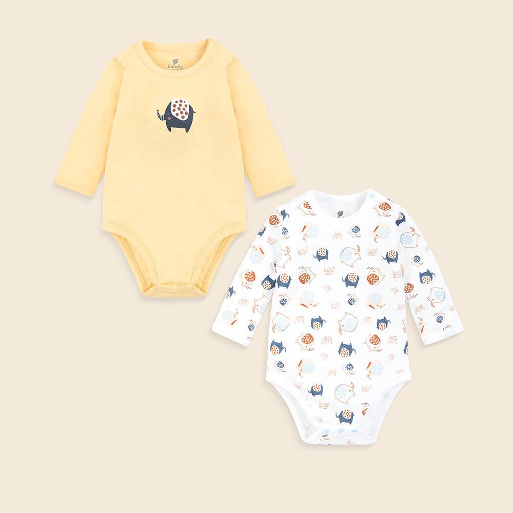 Bộ 2 áo liền quần bodysuit Lullaby vải Interlock BST Thu Đông 2019