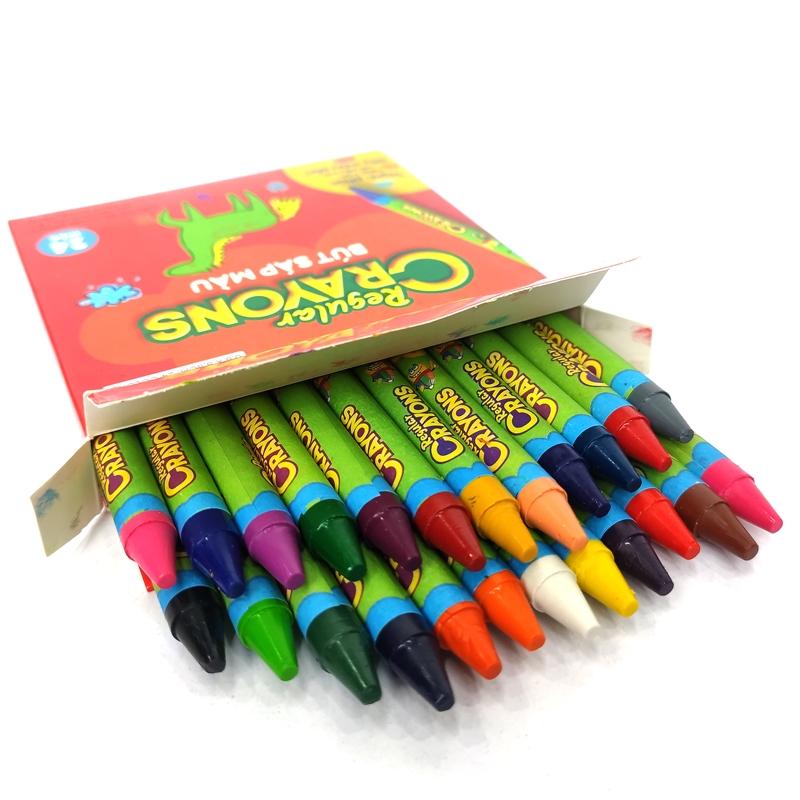 Bút Sáp Màu Chicko Regular Crayons - 24 Màu - DK3303-24