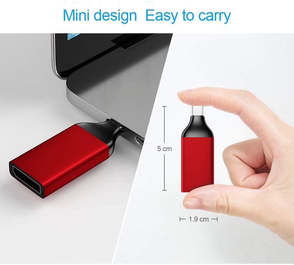 Đầu chuyển USB C/ Type-C ra Displayport cho tivi, màn hình - độ phân giải 4K 30Hz