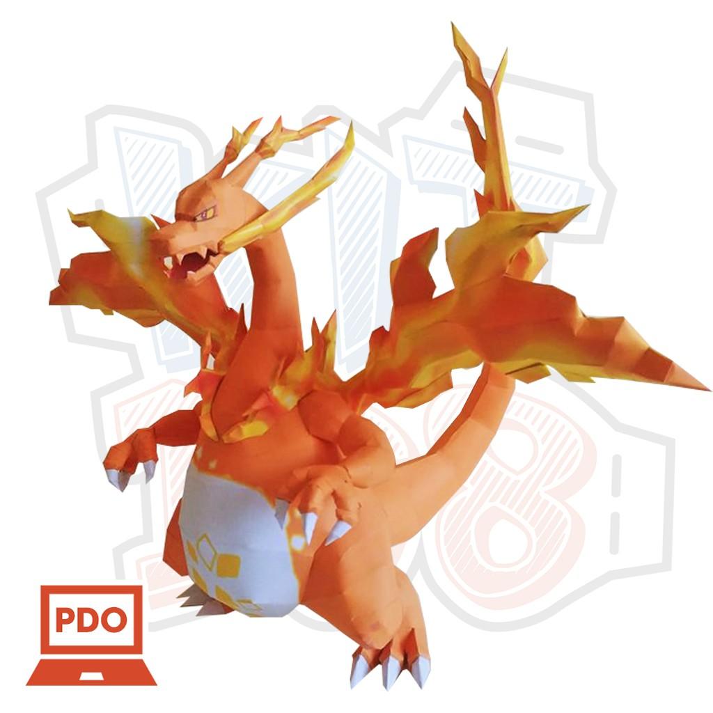 Mô hình giấy Anime Pokemon Gigantamax Charizard
