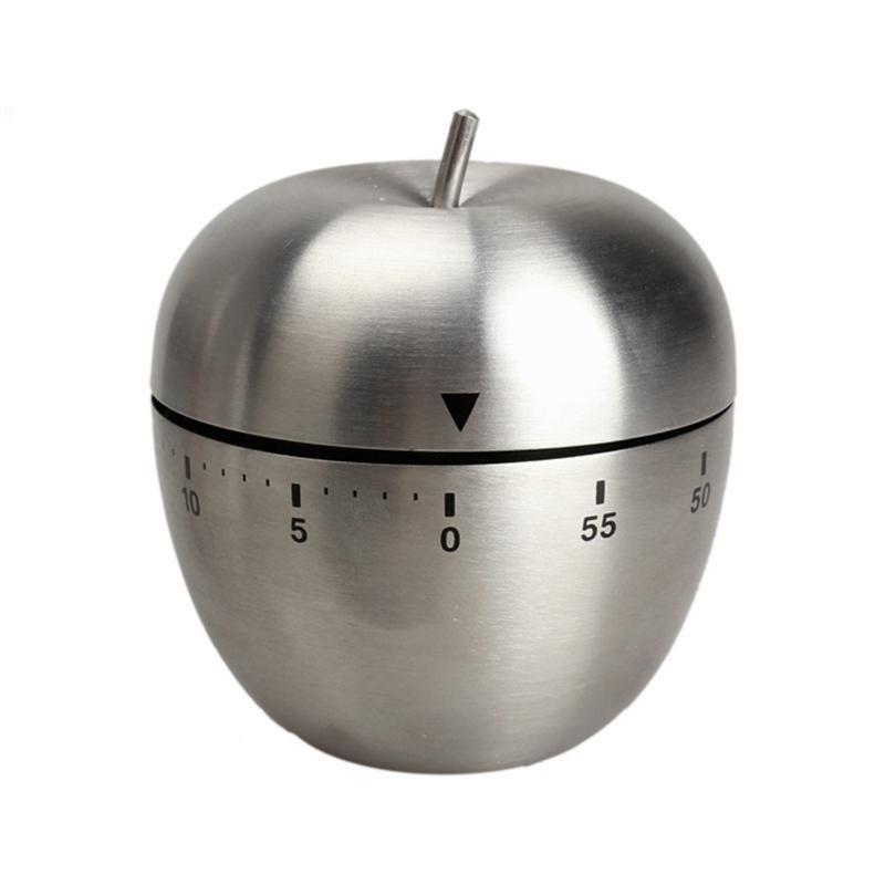 Đồng hồ hẹn giờ nấu ăn hình trái táo chất liệu inox