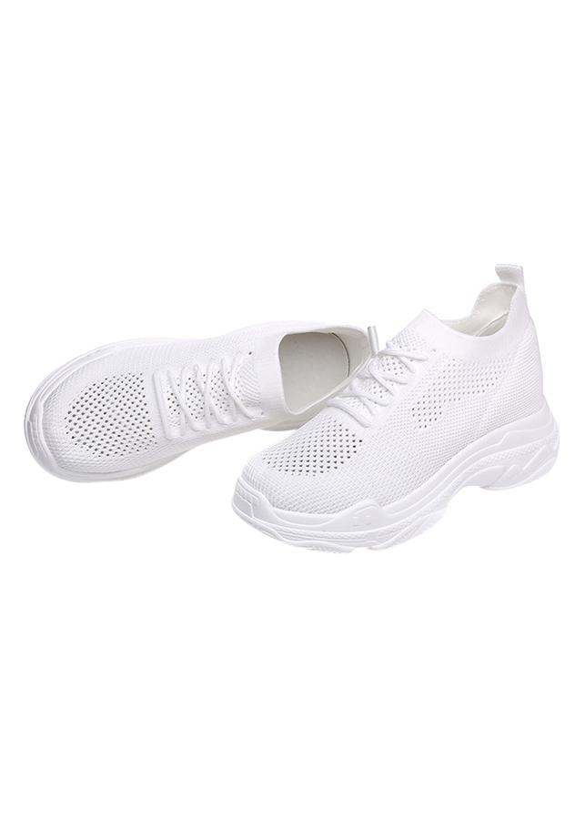 Giày Sneaker Nữ Độn Đế Đẹp Cổ Chun Hapu
