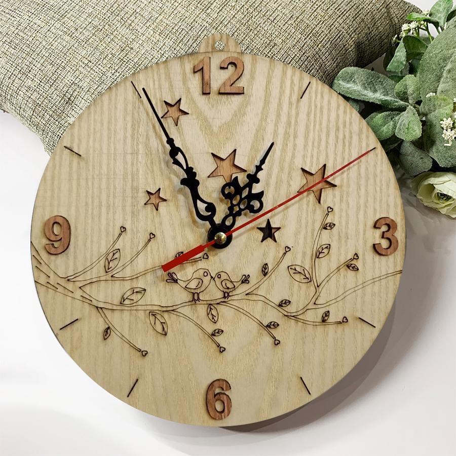 Đồng hồ treo tường đôi chim uyên ương