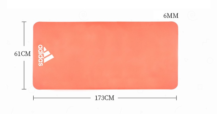 Thảm Yoga Adidas 6mm ADYG-10600   HÀ VY SPORT   Tiki