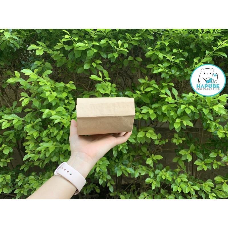 100 túi giấy kraft đựng bánh mì S3 11,5x7,5x23cm