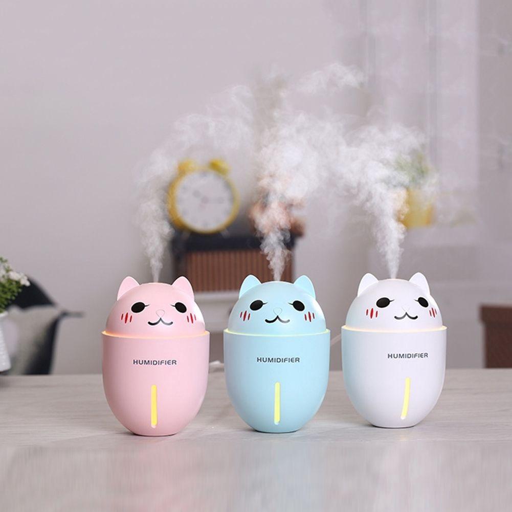 Máy phun sương tạo ẩm không khí 3 in 1 hình mèo độc đáo ( kèm 1 quạt USB và 1 đèn Led)