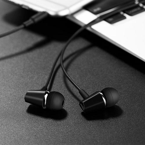 Tai nghe Hoco với micro có khả năng khử nhiễu, giảm ồn dây tráng men TPE ( 2 màu ) - Hàng chính hãng
