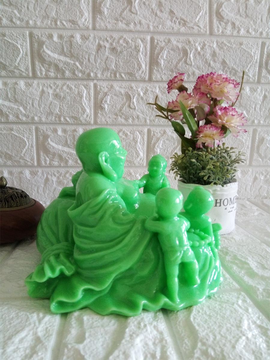 Tượng đá phật di lặc ngũ phúc xanh ngọc - DLX20