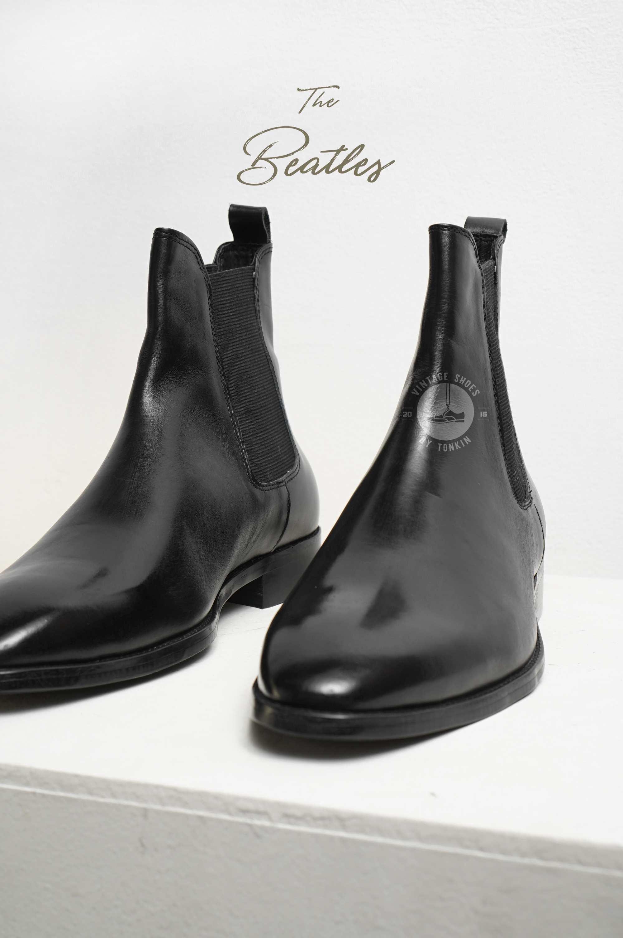 Giày CHELSEA Boot Nam Cổ Cao Phong Cách THE BEATLES Da Thật Mũi Nhọn Đế Phíp Văn Phòng Sartorial Bảo Hành 1 Năm