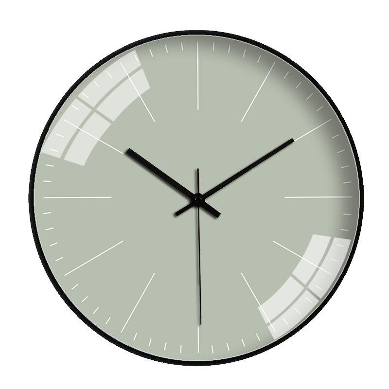 Đồng hồ treo tường tròn basic nền xanh lá nhạt không số 30cm