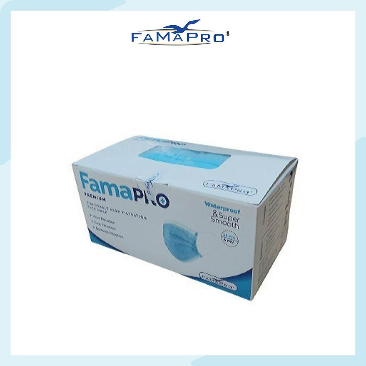 Khẩu trang y tế cao cấp 4 lớp kháng khuẩn Famapro Premium xuất khẩu Châu Âu (40 cái/ hộp)