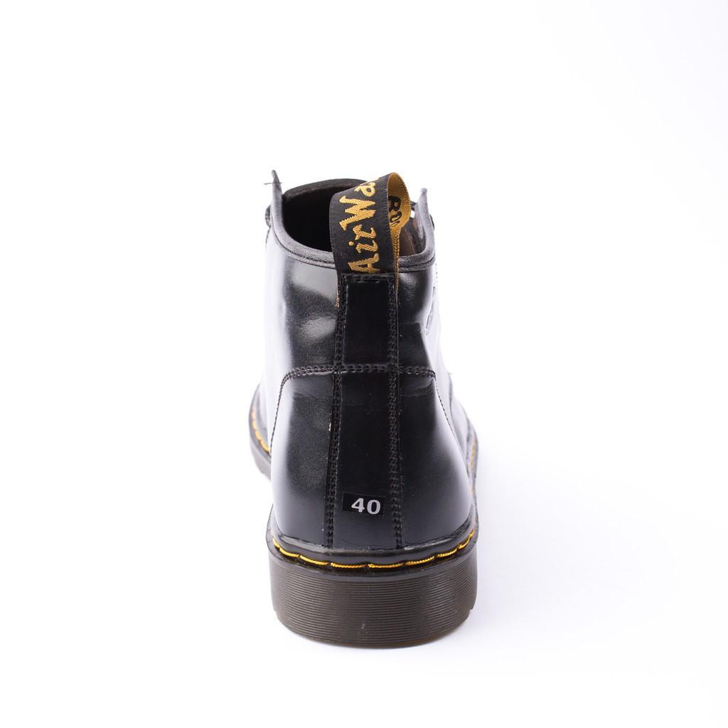 Giày Boot Nam Cổ Lửng Đế Khâu Da Trơn Màu Đen Cực Chất - M354-DEN (TL)-DEN